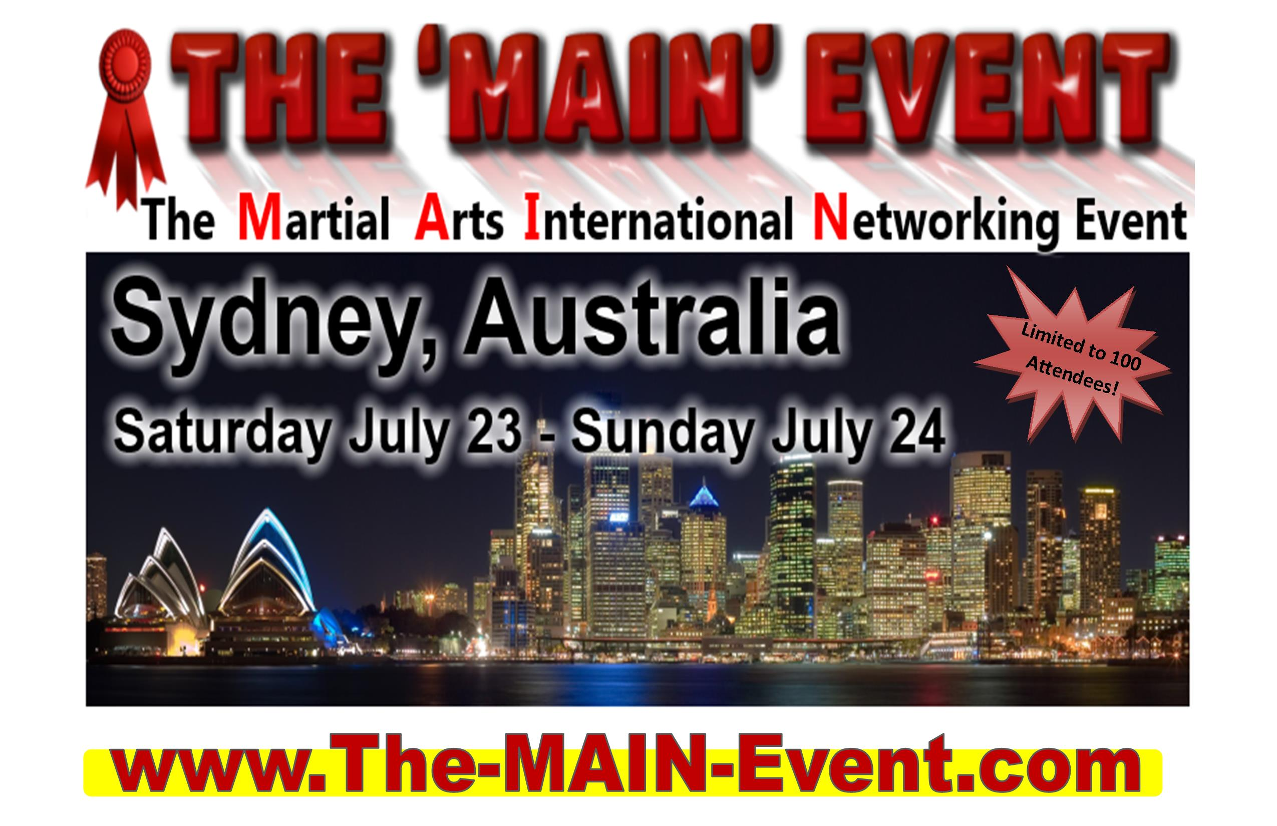 THE MAIN EVENT - SYDNEY JULY 2016